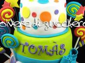 Torta caramelle candy cake primo compleanno bimbo