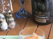 vellutata topinambur uova quaglia salmone