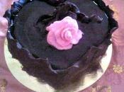 Cuore cioccolato fondente farcito panna philadelphia