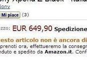 Sony Xperia disponibile pre-ordine Amazon.it!
