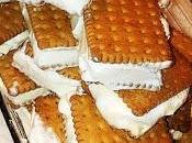 Biscotti gelato panna cioccolato