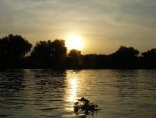 tramonto fiume Kwai
