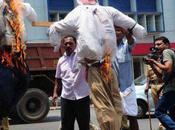 India. Manifestazioni contro l'Italia governo