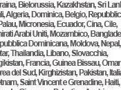 Expo Milano 2015: Nazioni Partecipanti Ufficiali all'Esposizione Universale