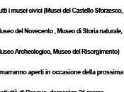 MILANO expo MUSEI CIVICI aperti Pasqua orari Palazzo Reale, Museo Novecento, PAC, Storia naturale