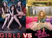 """""""Girls"""" versus diari Carrie""""- figliocci """"sex city"""" confronto"""