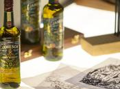 Jameson Whiskey: label glass sign David Smith