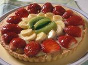 Crostata frutta fresca morbida crema alla ricotta
