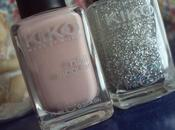 Nude sparkling nails with kiko nail polishes #372 #271