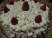Torta panna fragole