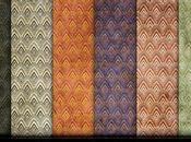 Raccolta pattern effetto vintage