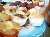 miei muffin. Muffin gocce cioccolato, cacao marmellata