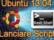 Ubuntu 13.04 Come Lanciare Script