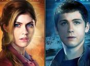 Alexandra Daddario Logan Lerman protagonisti characters poster Percy Jackson: Mare Mostri
