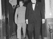 """Mosca, agosto 1942: """"grande abbuffata"""" Churchill Stalin"""