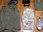 Outfit Parka flowers