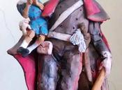 Pinocchio carabiniere terracotta Roberto Barbato