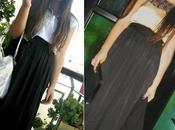 wear long black skirt: Outfit from night