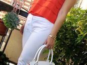 total white tocco arancione