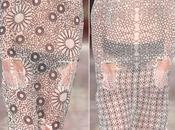 Bellissimi patterns negli outfits sasha nassar, premio internazionale womenswear alla graduate fashion week londra