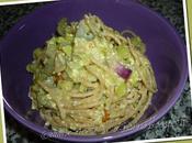 Spaghetti integrali carbonara zucchine cipolla Tropea