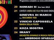 Umbria Folk Festival 2013: ecco programma definitivo. Ospite sarà svelato luglio