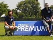 Mario Balotelli Andrea Pirlo testimonial della campagna Mediaset Premium