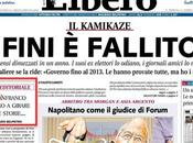 """Belpietro, Libero, giornalismo quelle """"strane storie"""" Gianfranco Fini"""