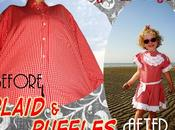 Tutorial Plaid Ruffles: Shirt-to-Dress Camicia Vestito, (quadretti volants)