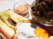 Toast asparagi bianchi, prosciutto uova