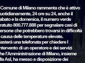 Temperatura Milano: temperature massime oltre gradi Milano emergenza caldo numero verde 800.777.888