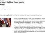 mese Roma Schifo denunzia numerosi post strategie delle borseggiatrici minorenni nella metro. Sindaco telefonato Prefetto solo quando stesse denunzie sono state sposate Governo Inglese. Perché?