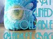 FREE Pattern Tutorial: Lined Foldable Market Borsa della Spesa, Ripiegabile Foderata