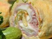 Rotolo salato fiori zucchine