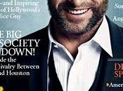 Hugh Jackman barbuto sorridente sulla cover Town Country