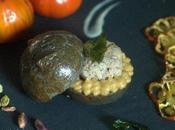 Terra-Cielo-Mare ovvero Panino speziato allo zenzero grano arso nero seppia, tartare triglia affumicata, mousse melanzana tonda maionese basilico. #iochef