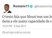"Romario spara Messi ""Genio perchè autistico"""