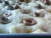 Focaccia farina kamut olive verdi