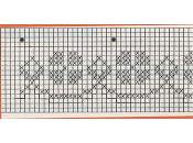 Bordi per mensole da lavorare a filet paperblog for Schemi bordure uncinetto per mensole