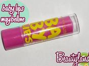 MAYBELLINE YORK Baby Lips Pink Punch (swatch recensione)-