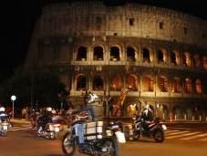 Rome Night oltre moto all'evento solidarietà organizzato Moto Club Polizia Stato
