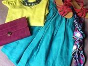 Outfit yellow blue emilio pucci
