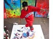 Hanifa dipinge quadri 5mila sterline ballando breakdance (foto video)