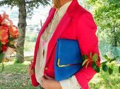 Outfit: Fucsia, elettrico stampa foulard