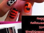 Scary Halloween: strelizia nail