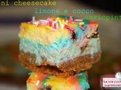 Mini cheesecake limone cocco variopinti