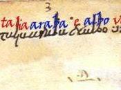 primi vagiti della lingua italiana: dall'Indovinello Veronese, alla Carta Capua, agli affreschi Clemente