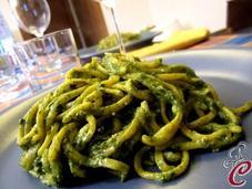 Tagliolini zucca crema spinaci, pinoli semi zucca: tradizione innovazione