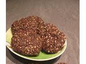 Biscotti all'avena, sesamo cioccolato