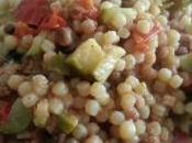 Fregola sarda tonno, zucchine pomodorini